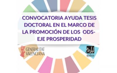 Convocatoria Premios Tesis UMH en el marco de promoción de los ODS