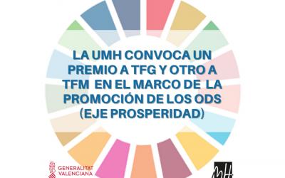 Convocatoria Premios TFG y TFM UMH dentro del marco de promoción de los ODS