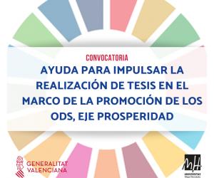 Convocatoria de una ayuda para impulsar la realización de tesis en el marco de la promoción de los ODS, Eje Prosperidad